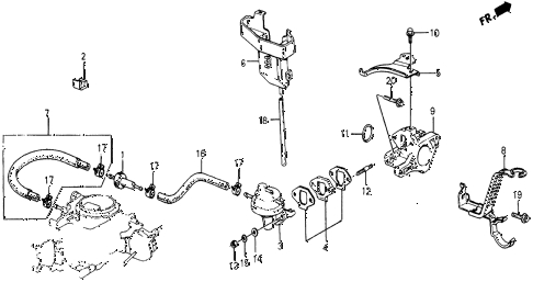 1986 civic 4WD 5 DOOR 5MT FUEL PUMP - FUEL TUBING diagram