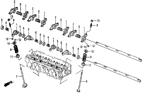 1986 civic 4WD 5 DOOR 5MT VALVE - ROCKER ARM diagram