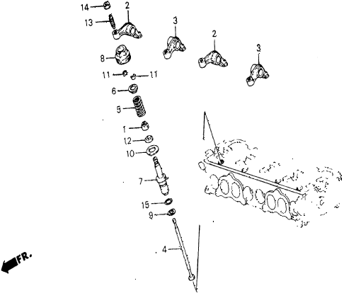 1986 civic 4WD 5 DOOR 5MT AUXILIARY VALVE diagram