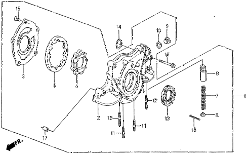 1986 civic 4WD 5 DOOR 5MT OIL PUMP diagram