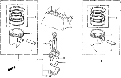 1986 civic 4WD 5 DOOR 5MT PISTON - CONNECTING ROD diagram
