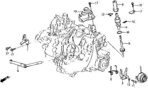 1986 civic 4WD 5 DOOR 5MT MT CLUTCH RELEASE diagram