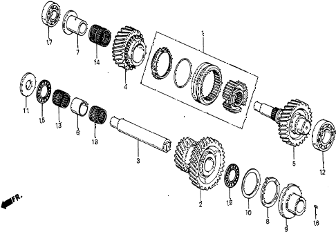 1986 civic 4WD 5 DOOR 5MT MT SURGE TANK TUBING diagram
