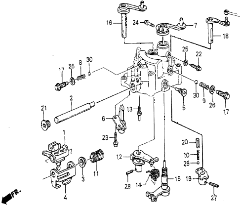 1986 civic 4WD 5 DOOR 5MT MT SHIFT ARM - SHIFT ROD diagram