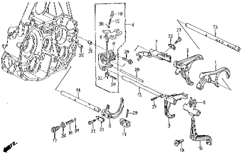 1986 civic 4WD 5 DOOR 5MT MT SHIFT FORK diagram
