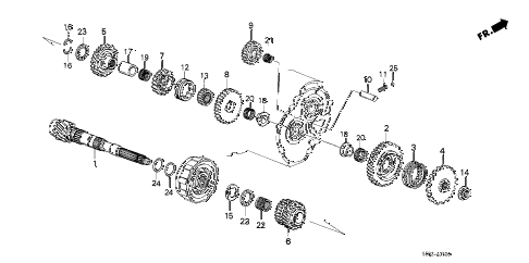 1989 accord SEI 4 DOOR 4AT AT COUNTERSHAFT diagram