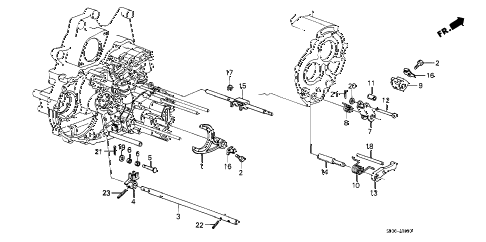 1989 accord LXI 4 DOOR 4AT AT THROTTLE VALVE SHAFT diagram