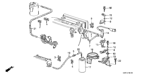1989 accord LXI 3 DOOR 4AT SOLENOID VALVE (PGM-FI) diagram