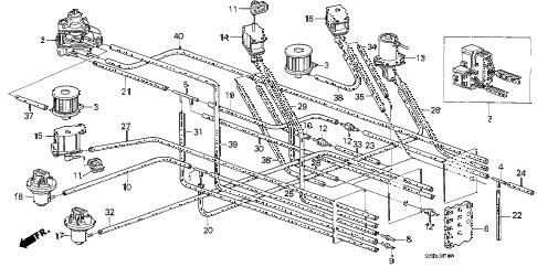 1988 accord DX 3 DOOR 5MT MT TUBING (CARBURETOR) (MT) diagram