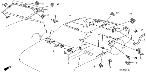1986 accord DX 3 DOOR 4AT REAR WIRE HARNESS diagram