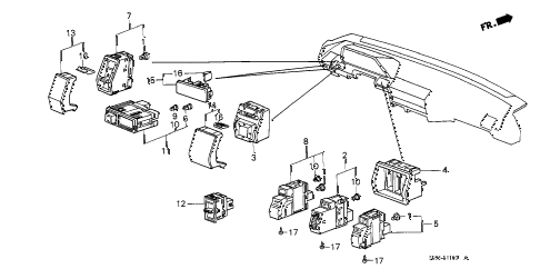 1989 accord DX 4 DOOR 5MT SWITCH diagram