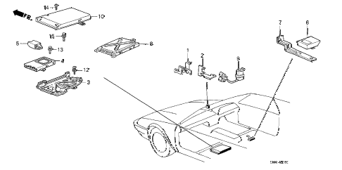 1986 accord DX 3 DOOR 5MT CONTROLLER (2) diagram