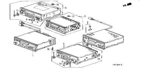 1987 accord LX 4 DOOR 5MT RADIO TUNER diagram
