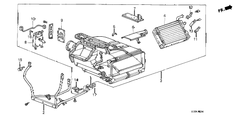 1989 accord DX 4 DOOR 5MT HEATER UNIT diagram
