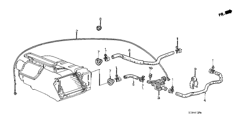 1987 accord LX 4 DOOR 4AT WATER VALVE diagram