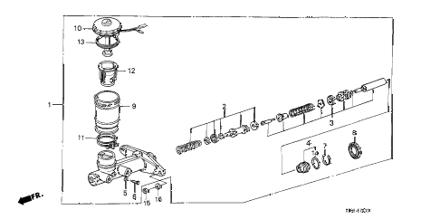 1986 accord LXI 4 DOOR 4AT MASTER CYLINDER diagram