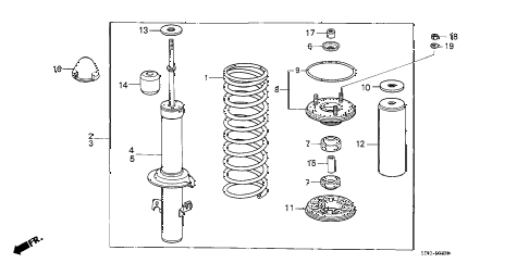 1988 accord LXI 3 DOOR 4AT FRONT SHOCK ABSORBER diagram