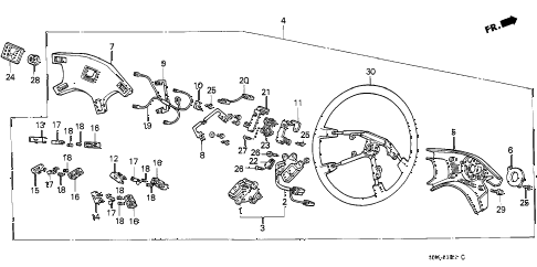 1989 accord DX 3 DOOR 4AT STEERING WHEEL (NIPPON PURASUTO) (3) diagram