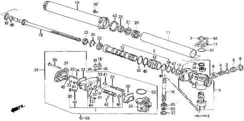 1988 accord LXI 3 DOOR 4AT P.S. GEAR BOX COMPONENTS diagram