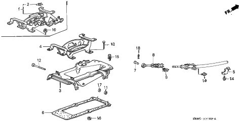 1989 accord DX 3 DOOR 4AT SELECT LEVER BRACKET diagram