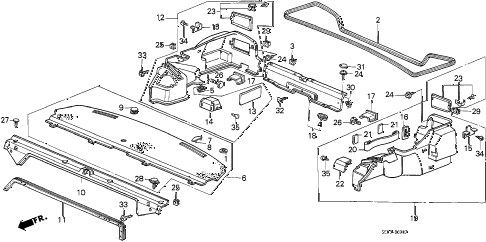 1986 accord LX 4 DOOR 4AT REAR TRAY (4D) 4DR diagram