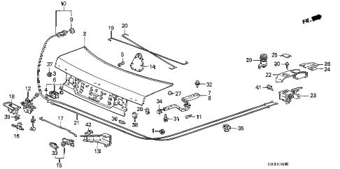 1989 accord DX 4 DOOR 5MT TRUNK LID (4D) (0S200001-) 4DR diagram