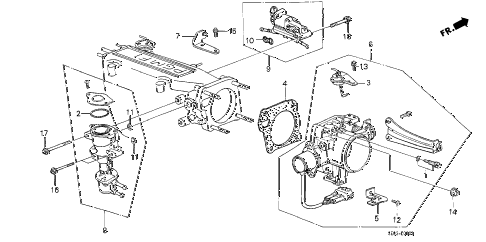 1989 accord SEI 4 DOOR 4AT THROTTLE BODY (PGM-FI) diagram
