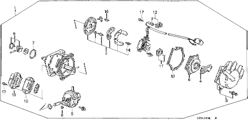 1986 accord DX 3 DOOR 5MT DISTRIBUTOR (CARBURETOR) (TEC) diagram