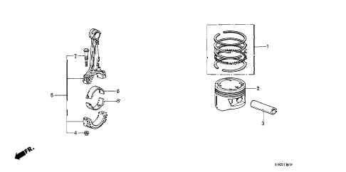 1987 accord LX 4 DOOR 4AT PISTON - CONNECTING ROD diagram