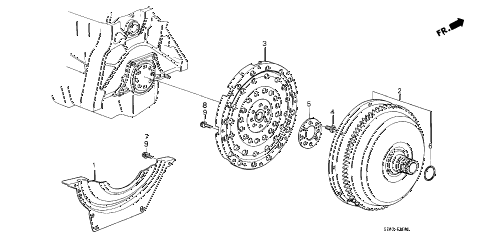 1988 accord DX 3 DOOR 4AT AT TORQUE CONVERTER diagram