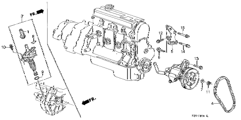 1986 accord LX 4 DOOR 4AT P.S. PUMP - SPEED SENSOR diagram
