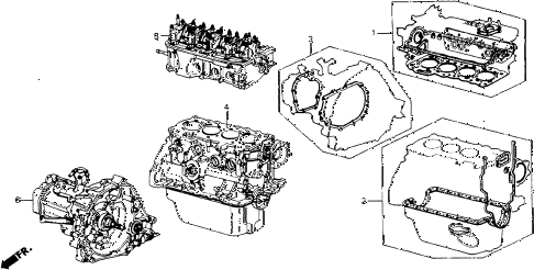 1987 accord DX 3 DOOR 5MT GASKET KIT diagram