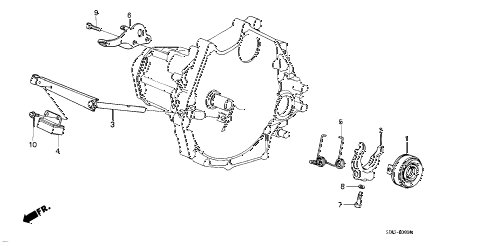 1986 accord DX 3 DOOR 5MT MT CLUTCH RELEASE diagram