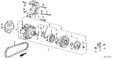 1989 accord DX 3 DOOR 5MT A/C COMPRESSOR (KEIHIN) diagram
