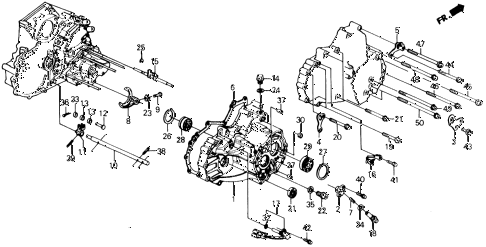1991 prelude 2.05SI(ABS) 2 DOOR 4AT AT TRANSMISSION HOUSING diagram