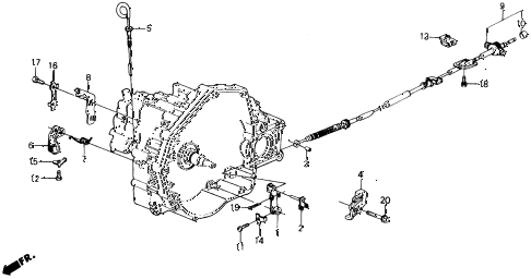 1991 prelude 2.05SI(4WS) 2 DOOR 4AT AT CONTROL WIRE diagram