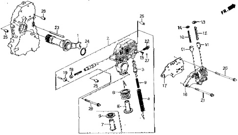 1988 prelude 2.0S 2 DOOR 4AT AT REGULATOR - LOCK-UP VALVE diagram