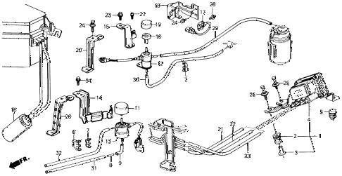 1988 prelude 2.0S 2 DOOR 5MT AIR JET CONTROL - TUBING diagram