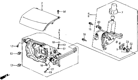 1991 prelude 2.05SI(ABS) 2 DOOR 4AT RETRACTABLE HEADLIGHT diagram