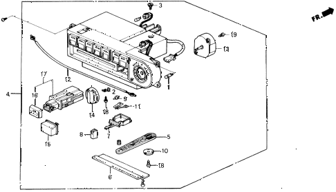 1991 prelude 2.05SI 2 DOOR 5MT HEATER CONTROL diagram