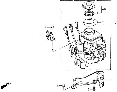 1991 prelude 2.05SI(ABS) 2 DOOR 4AT MODULATOR (A.L.B.) diagram