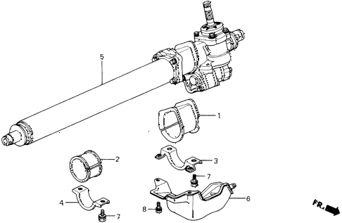 1991 prelude 2.0SI 2 DOOR 5MT P.S. GEAR BOX (S.SI EXC. 4WS) diagram