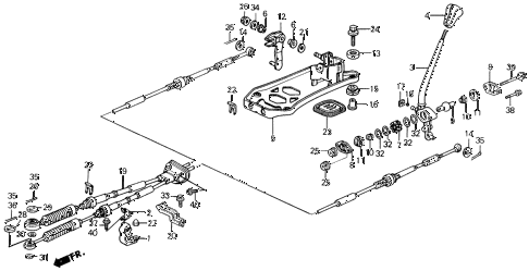 1989 prelude 2.0S 2 DOOR 5MT SHIFT LEVER diagram