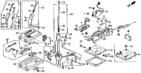 1990 prelude 2.05SI 2 DOOR 4AT SELECT LEVER diagram