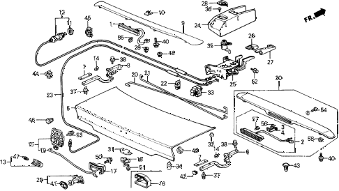 1991 prelude 2.05SI(4WS) 2 DOOR 4AT TRUNK LID diagram