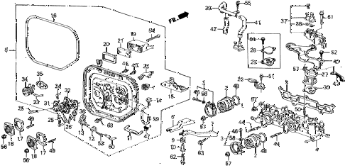 1988 prelude 2.0S 2 DOOR 4AT INTAKE MANIFOLD (S) diagram