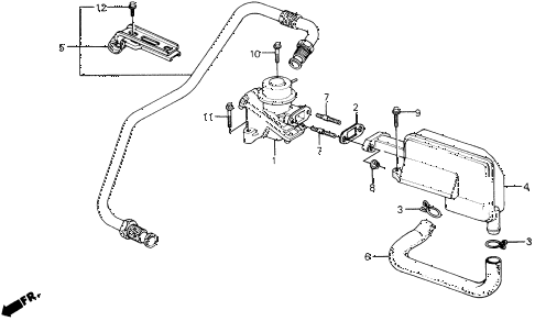 1990 prelude 2.0S 2 DOOR 4AT AIR SUCTION VALVE diagram
