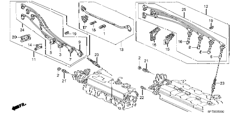 1988 prelude 2.0S 2 DOOR 5MT HIGH TENSHION CORD - SPARK PLUG diagram