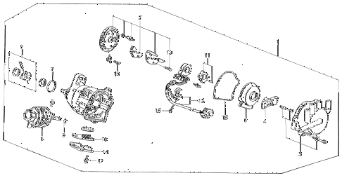 1990 prelude 2.0S 2 DOOR 5MT DISTRIBUTOR (TEC) diagram