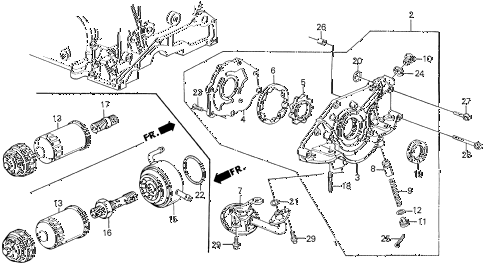 1990 prelude 2.05SI(ABS) 2 DOOR 5MT OIL PUMP diagram